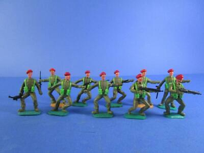 TIMPO  10 X BRITISH RED BERET SOLDIERS, 1/32, NEAR MINT! • 4.99£