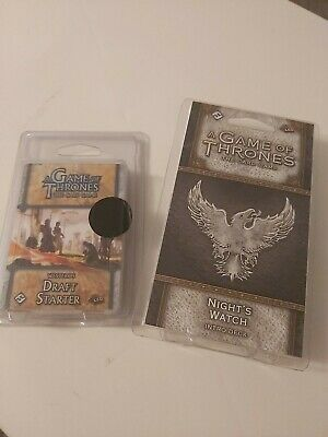 Game Of Thrones LCG: Westeros Draft Starter & Game Of Thrones Night Watch Deck. • 40£