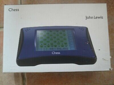 John Lewis Computer Chess Game.  Sold As Spares Or Repair. Complete With Stylus  • 20£