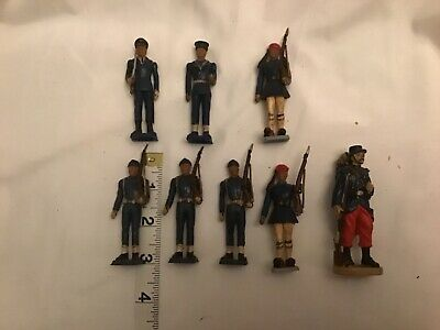 "Group Of 8french Model Soldiers...3"" • 1.50£"