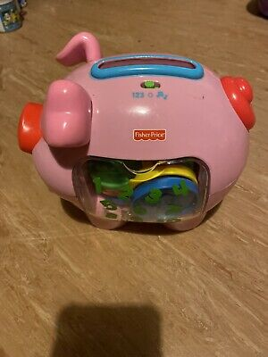 Fisher Price Piggy Bank And Coins • 3.20£