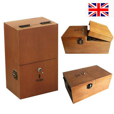 Wooden Useless Box Leave Me Alone Machine Box Don't Touch Gift Toys UK • 12.99£