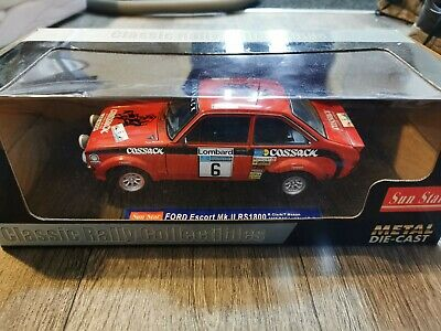 Sun STAR 1975 Ford Escort MKII Rally Car 1/18 Scale In BOX *MINT* • 52.50£