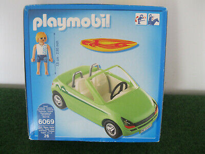 Playmobil Summer Fun 6069 Surfer Figure & Car + Accessories Boxed 'new' ** • 16.99£