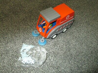 Playmobil Road Sweeper Actually Sweeps - Litter And Figure Included • 8.99£