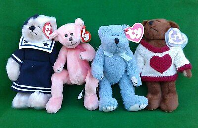 4 Ty Attic Treasures Collection Bears. • 7.99£