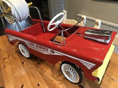Tri-ang Pedal Car Fire Engine. The Best Available. Original And Unrestored.  • 595£
