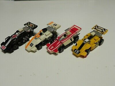 RARE Ideal TCR Mk1 Indy 4 Car Jam Race Set Cars - Restored And Ready To Race  • 24£