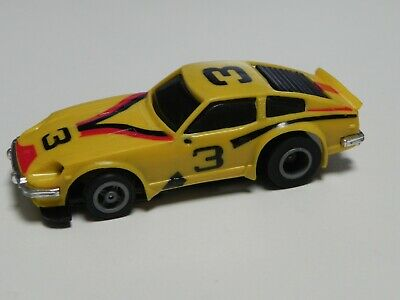 RARE Ideal TCR Mk3 Yellow Lighted Datsun Race Car - Restored And Ready To Race • 20£