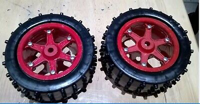 PB Mustang Xi2 Vintage RC Buggy Wheels And Tires Red • 15£