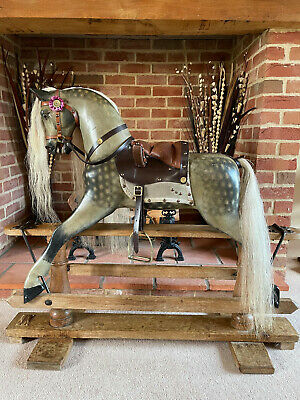 'Caspian' Antique F H Ayres Rocking Horse - FREE DELIVERY • 2,250£