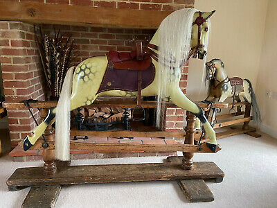 'Judy' Extra Large Antique Paul Leach Rocking Horse 1896 - FREE DELIVERY • 6,200£