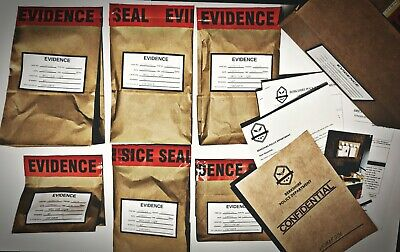 DETECTIVE CASE To Solve With CRIME THEMED GIFTS As 'EVIDENCE' • 34.99£
