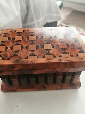 Handcrafted Large Wooden Inlay Puzzle Box.it Comes With A Video Link.  • 33.50£