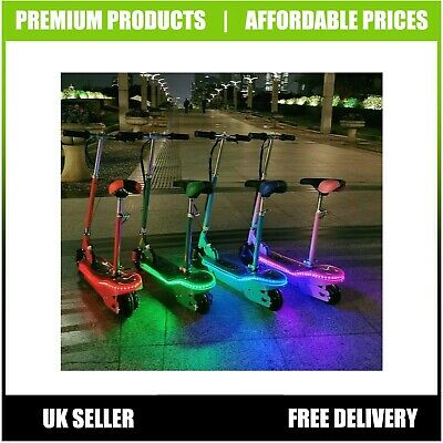 Kids Electric Scooter With LED 120W Childrens E Scooter Seated Girls Boys  • 105.99£