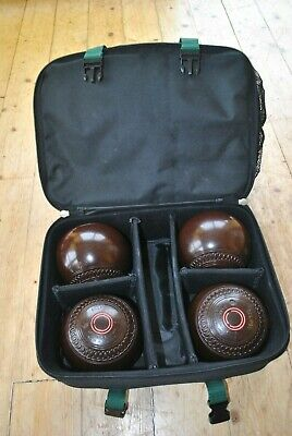 Set Of Four Brown Jaques London, Eclipse Bowls In  Prohawk Carry Case. • 28£
