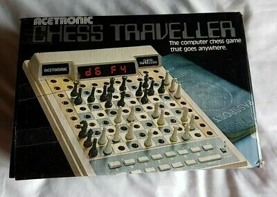 VINTAGE ACETRONIC CHESS TRAVELLER COMPUTER SET - BOX 80s Ex WORKING Condition  • 69.99£