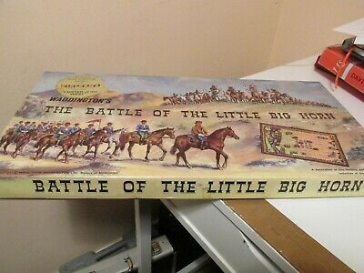 'The Battle Of The Little Big Horn' Board Game By Waddington's 1964 Complete `  • 35.99£