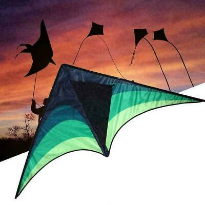 Large Delta Kite For Kids And Adults Single Easy Line Kite E8J9 Handle A5H1 G0W2 • 4.72£