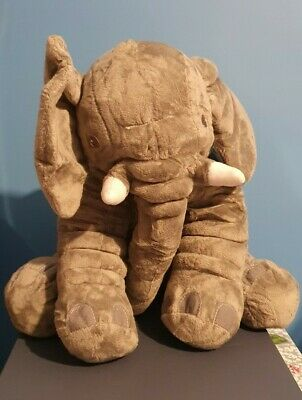 Soft Toy Elephant, Approx. 12  High Sitting, Squashy Feel And Tassel Tail End • 10.99£