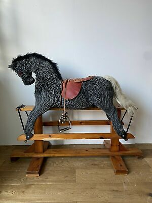Wooden Vintage Rocking Horse Pegasus Hand Crafted • 35£
