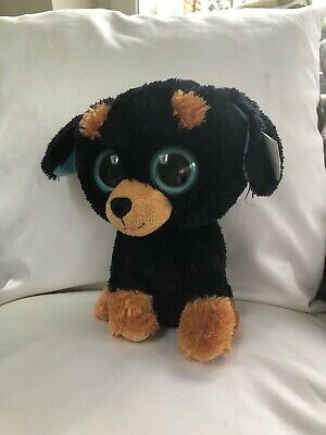 "7"" Beenie Boo ""tuffy"" Black Puppy • 1£"