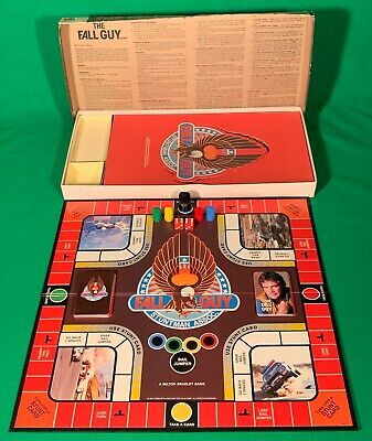 *RARE*  The Fall Guy - ORIGINAL 1982 - Board Game By MB Games - FULLY COMPLETE!! • 12.50£