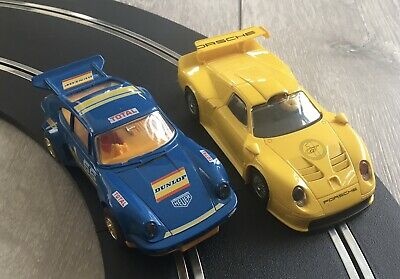 Scalextric Porsche Cars X2 Used Condition • 12.50£