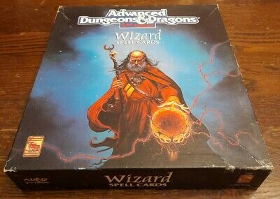 AD&D 2nd Edition. Wizard Spell Cards. TSR 9356 • 30£