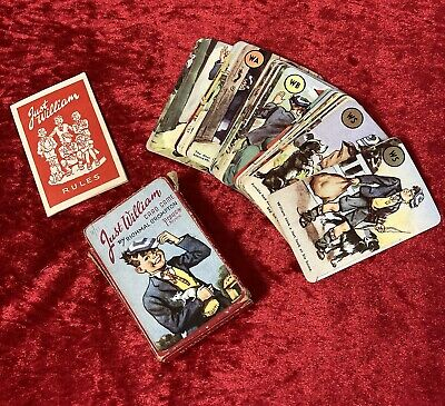 Vintage 1952 Pepys - Just William - Richmal Crompton Card Game With Instructions • 15£