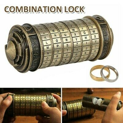 Da Vinci Code Cryptex Mini Lock Box Creative Romantic Anniversary Birthday Gift • 19.98£