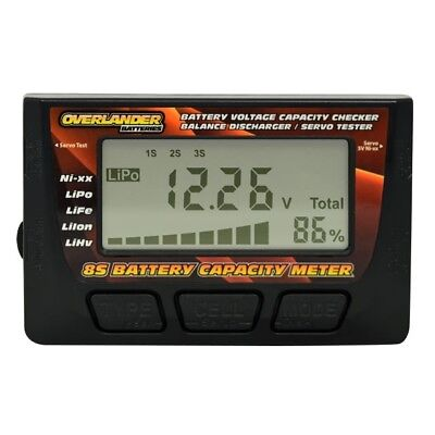 Battery Capacity Meter Voltage Checker 8S LiPo Balance Discharger & Servo Tester • 13.99£