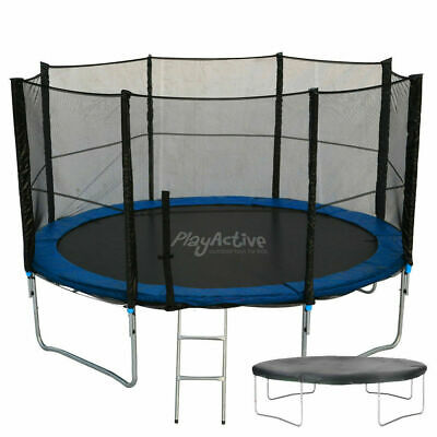 10FT Trampoline With FREE Safety Net Enclosure, Ladder, Rain Cover • 229.99£