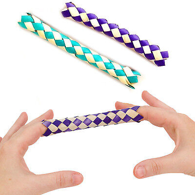 2 X CHINESE FINGER TRAP MAGIC TRICK TOY BOYS GIRLS GAG BIRTHDAY PARTY BAG FILLER • 2.75£