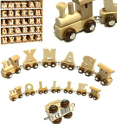 Wooden Name Train Letters Christening Gift Childs Toy Christmas Stocking Fillers • 2.95£