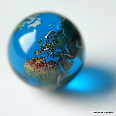 22mm Detailed Solid Glass Earth Globe Marble - Cosmic World Planet Gaea Terra • 6.99£