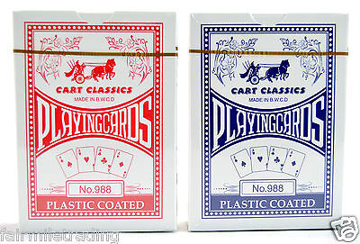 2X Quality Professional Plastic Coated Playing Cards Poker Full Size Sealed Deck • 1.69£