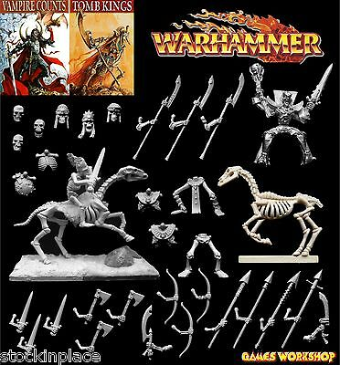 GAMES WORKSHOP Warhammer VAMPIRE COUNTS / TOMB KING BITZ 28mm Scale Undead Bits • 2.99£