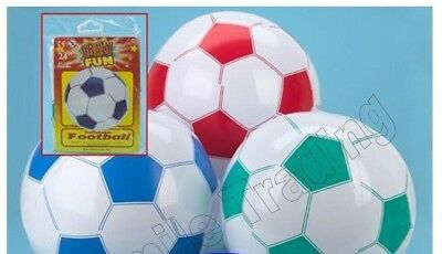 Large Big 24  & 21  Inflatable Blow Up Football Beach Ball Swimming Party • 2.49£