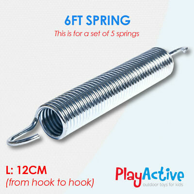 Trampoline Springs 12cm - 18cm Replacement Heavy Duty Galvanized Set Of 5 • 9.99£
