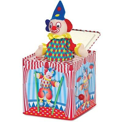 Traditional Circus Style Clown Pop Up Jack In The Box Toy Musical Childs Kids • 17.75£