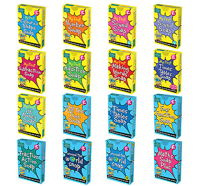 BrainBox Snap + Pairs Card Games | Maths Fractions Times Tables KS1 KS2 | STEM • 5.99£