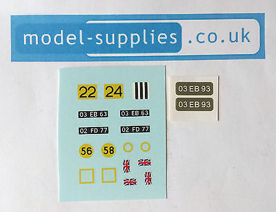 Dinky 683 Chieftain Tank Reproduction Waterslide Transfers & Stickers Set • 4.19£