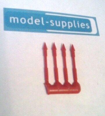Dinky 100 Fab 1 Set Of 4 Reproduction Red Plastic Harpoons • 5.13£