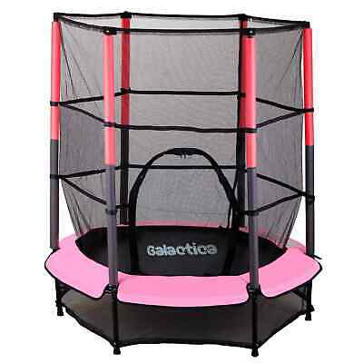 WestWood Children's Mini Trampoline With Safety Net – 4.5FT Kids Rebounder Pink • 99.90£