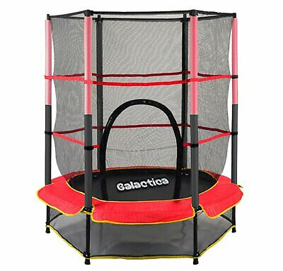 WestWood Children's Mini Trampoline With Safety Net – 4.5FT Kids Rebounder Red • 99.90£