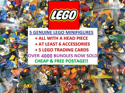 JOB LOT COLLECTION Of 5 GENUINE LEGO RANDOM MINIFIGURES + ACCESSORIES Bundle • 6.45£