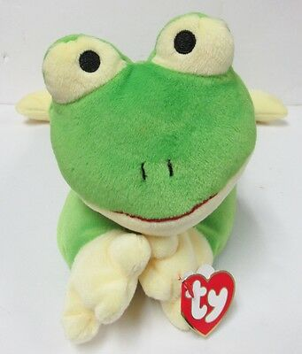 TY Pillow Pal Ribbit, The GREEN & YELLOW Frog PRISTINE CLEAN Brand New MINT Tags • 15.46£