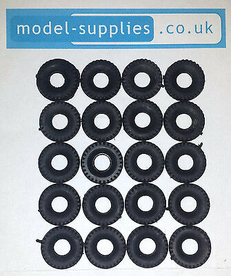 Dinky 15mm Chunky Black Treaded Reproduction Tyres Fits Post 1960 Dinky Cars Etc • 2.70£