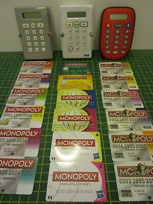 Monopoly ELECTRONIC BANKING UNIT & CREDIT CARDS [Spares Replacements] • 1.99£
